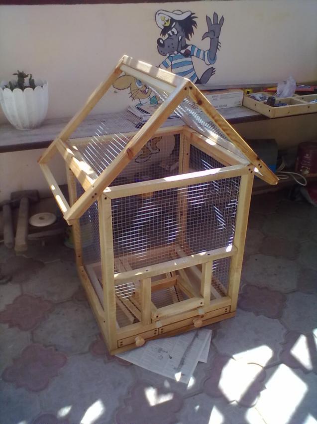 Как сделать клетку для попугая пошаговая инструкция